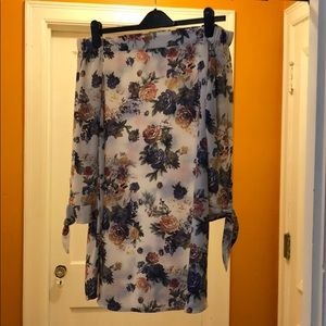 West Kei floral strapless dress